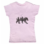 Bear Adventure T Shirt - Pink  Small
